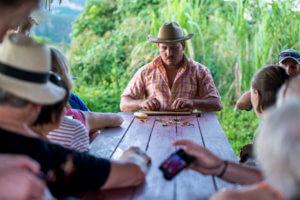 Cuban Man Rolling Cigars