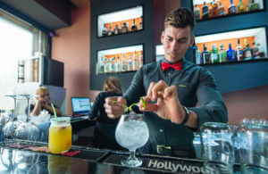 Cuban Bartender Making a Cocktail