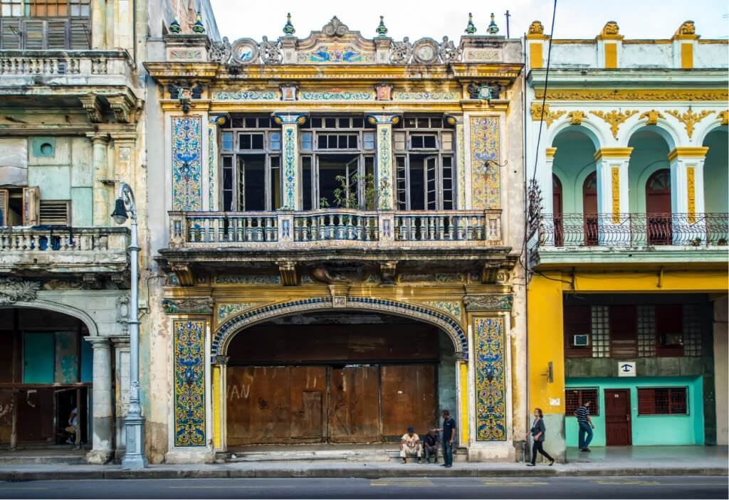 Old Havana House Fronts