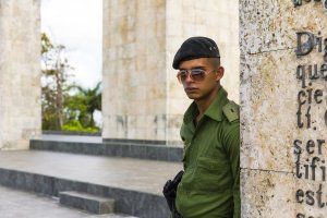 Handsome Young Cuban Officer, Beauty is Everywhere