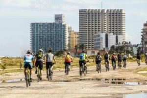 Cycling along Coastal Road of Havana, Cuba