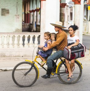 Transport for the Whole Family, bike in Cienfuegos