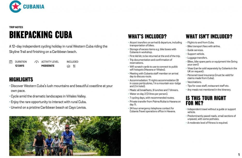 Bikepacking Cuba free trip notes