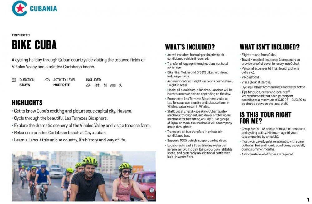 Bike Cuba free trip notes